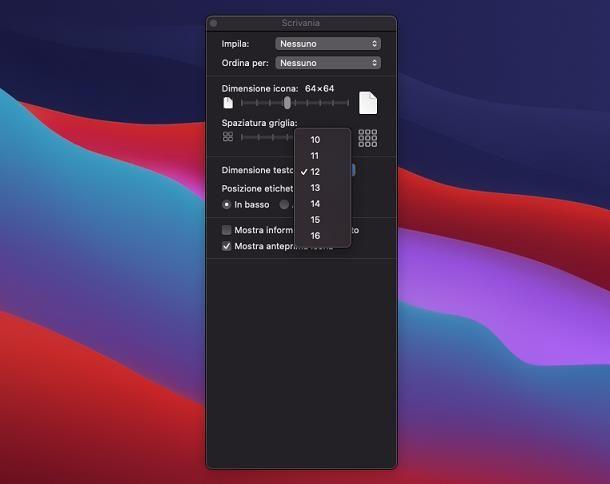 Come ingrandire i caratteri su macOS