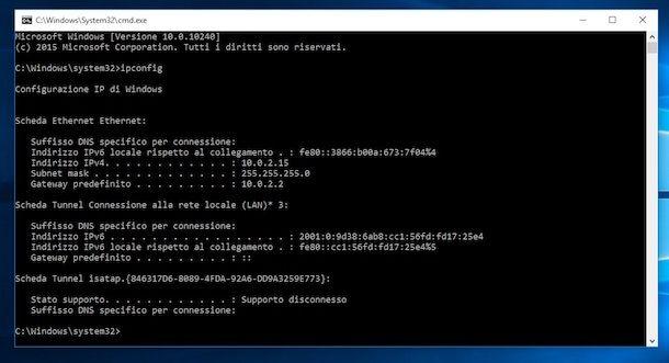 Trovare l'indirizzo IP del router