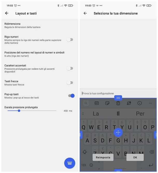 Come ingrandire i caratteri della tastiera di Android