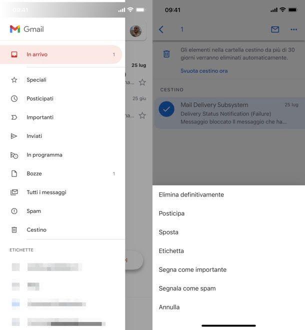Recuperare email Gmail iPhone