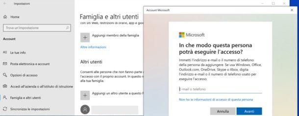 Cambiare account Microsoft su Windows 10