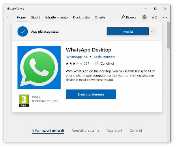 WhatsApp Microsoft Store