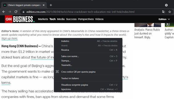 Tradurre con Chrome