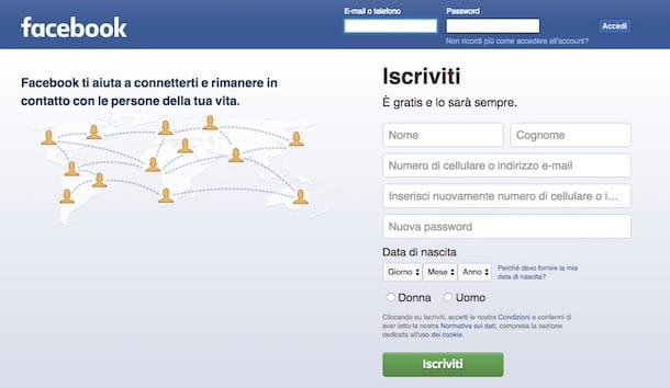 Come ibernare Facebook