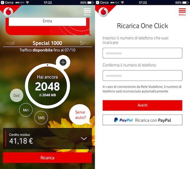 Come ricaricare un altro numero Vodafone