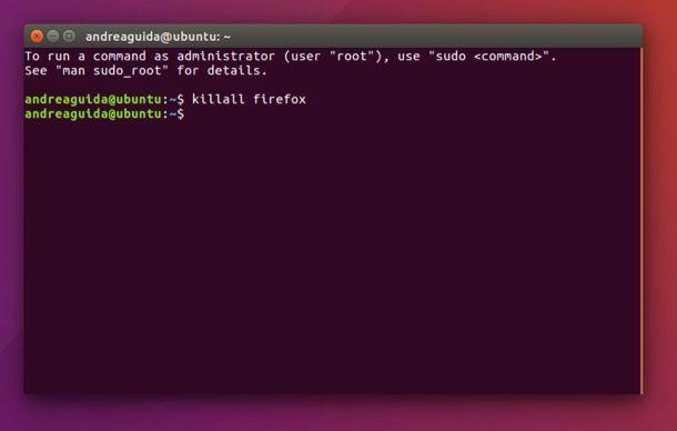 Come killare un processo Linux