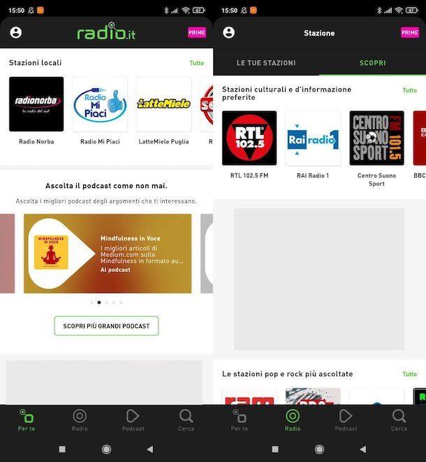 Altre app per ascoltare radio su smartphone e tablet