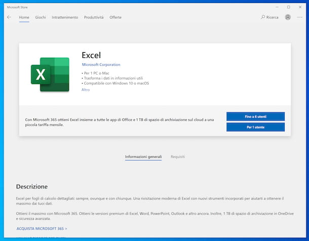 Excel WIndows 10