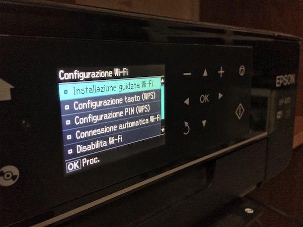 Come configurare stampante WiFi