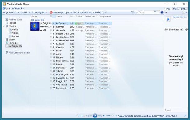 Come creare MP3 da CD audio
