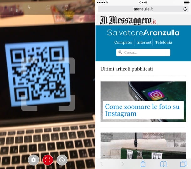 Come usare QR code iPhone