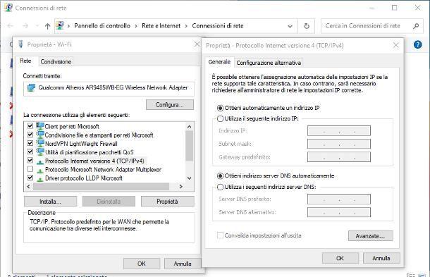 Come abilitare DHCP: Windows 10