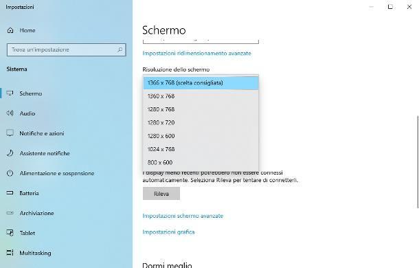 Come ridimensionare lo schermo del PC: Windows 10