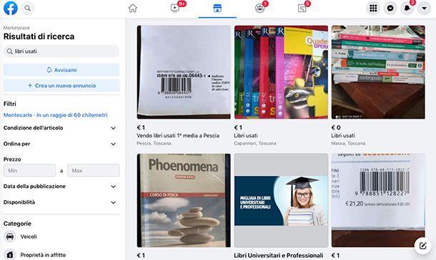 Come vendere libri usati su Marketplace di Facebook