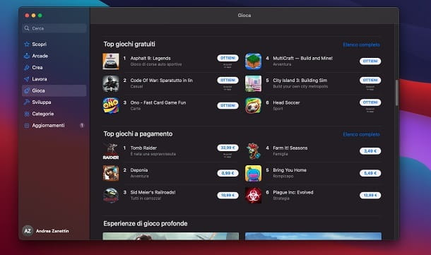 App gratuite Mac App Store
