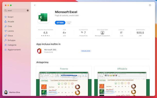 Excel macOS