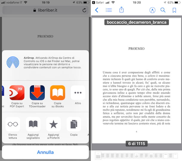 allegati pdf su iphone
