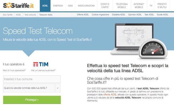 Come testare ADSL