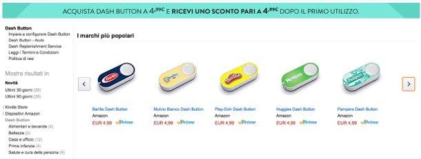 Amazon Dash Button: cos'è, come funziona e prezzo in Italia