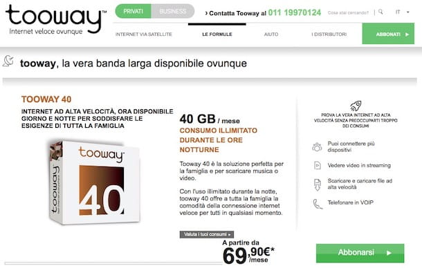 Offerte Internet satellitare