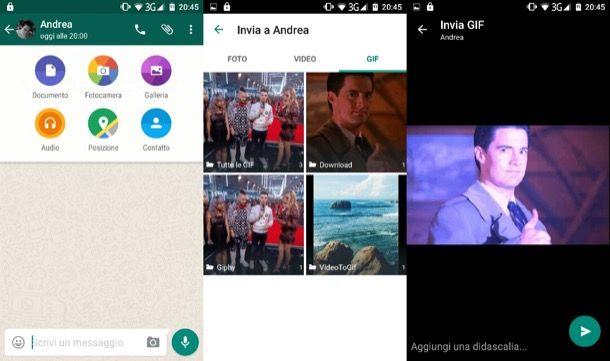 Come inviare GIF su WhatsApp