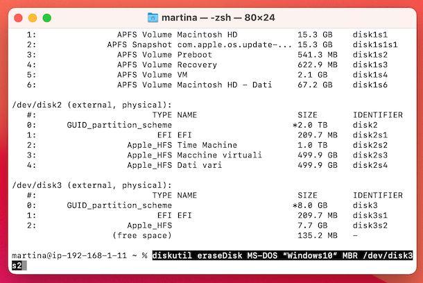 Terminale USB bootable Windows 10