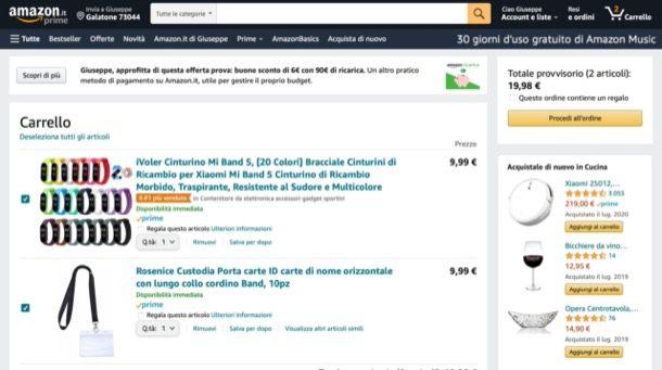 Acquistare su Amazon