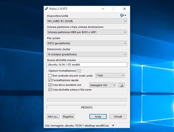 Come creare USB bootable