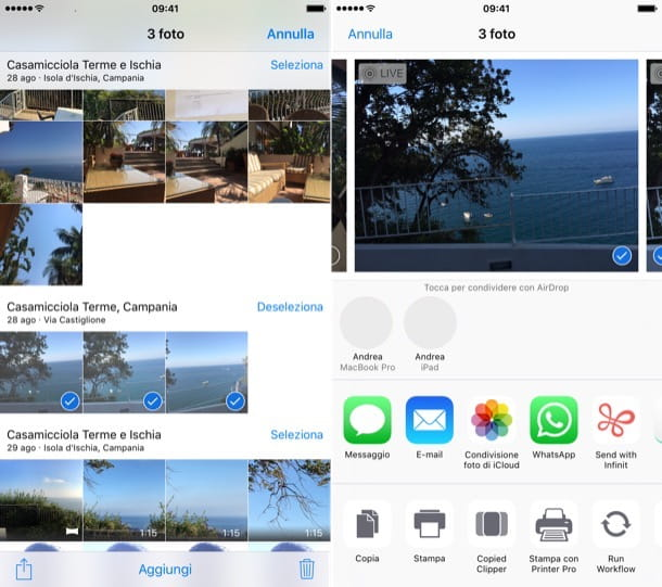 Come trasferire foto da iPhone a iPad