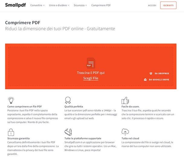 Come alleggerire PDF