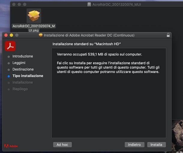 Installazione Adobe Reader su macOS
