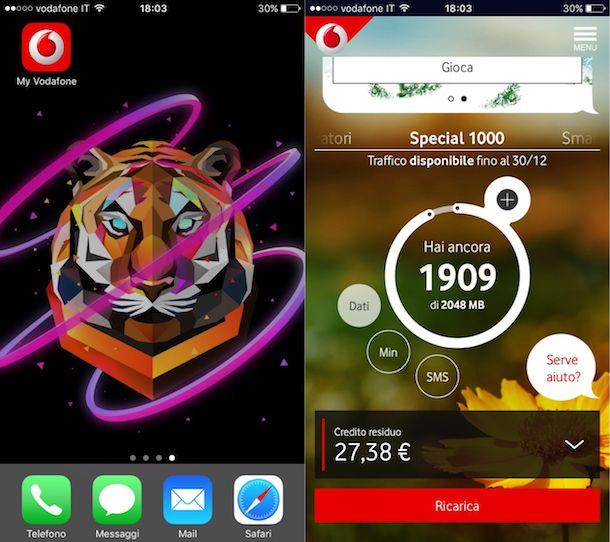 Come sapere quanto Internet rimane Vodafone