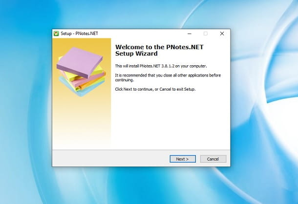 Installare PNotes Windows
