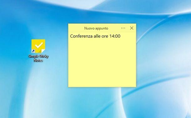 Simple Sticky Notes Windows
