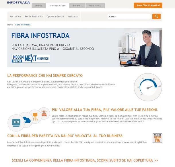 Offerte Fibra Infostrada