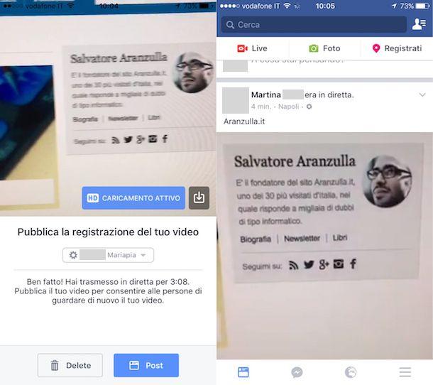 Come fare diretta su Facebook