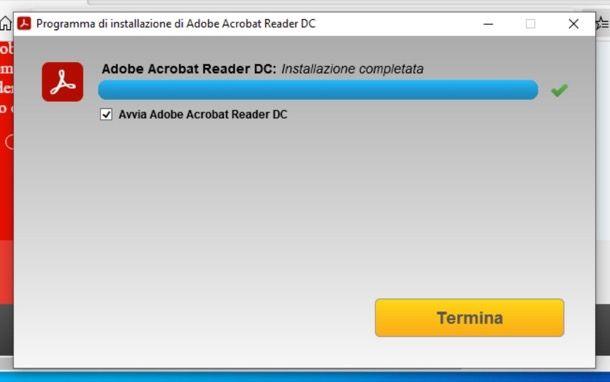Installazione Adobe Reader su Windows