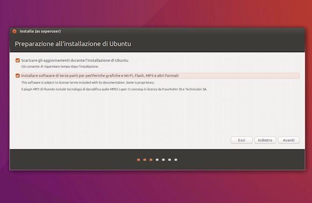 Installazione di Ubuntu