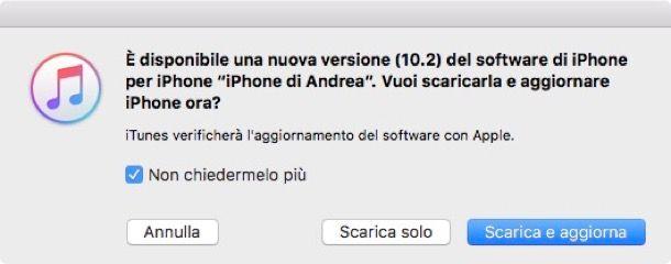 Come annullare aggiornamento iPhone