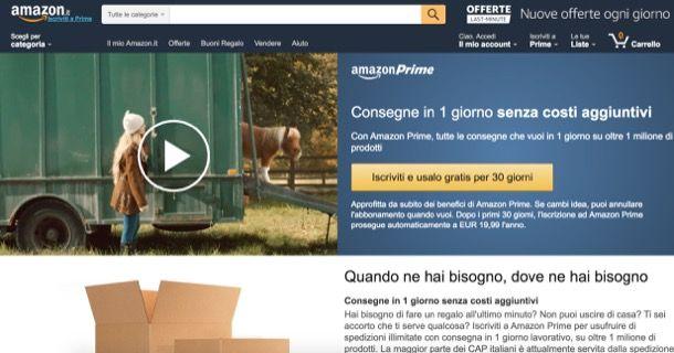 Amazon Prime Video Italia: come funziona
