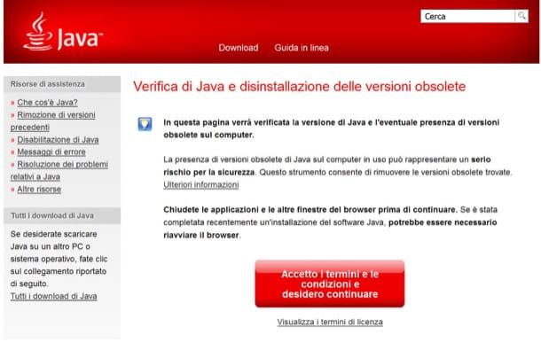 Come verificare Java