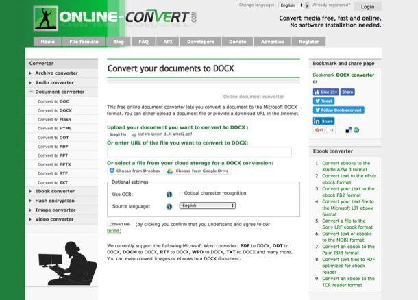 Come convertire online