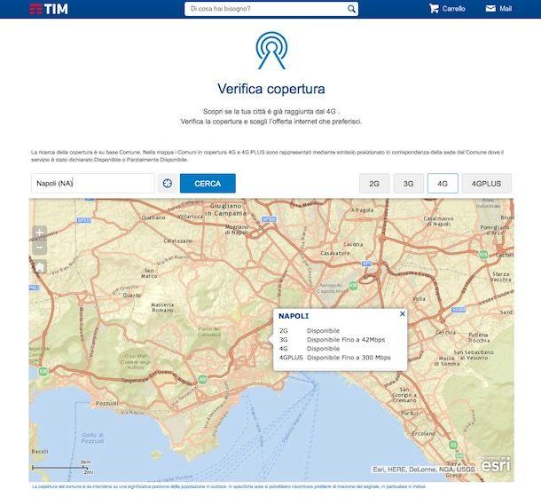 Come verificare copertura TIM