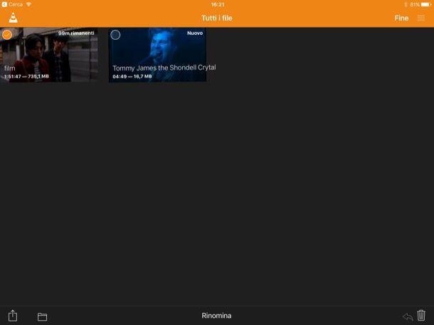 Come aggiungere film su iPad