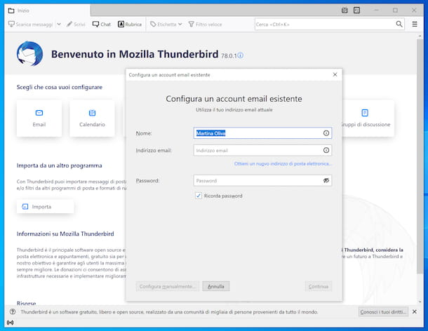 Thunderbird su Windows