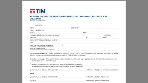 Disdetta TIM mobile