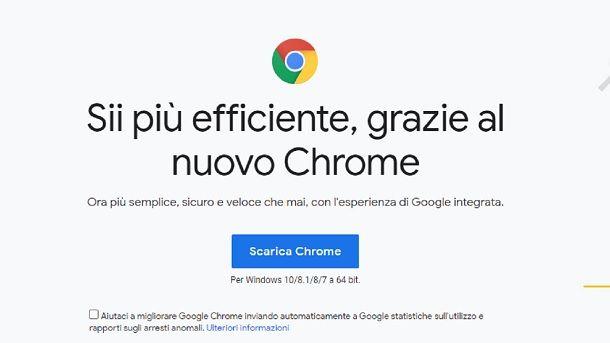 Come scaricare Google Chrome su PC