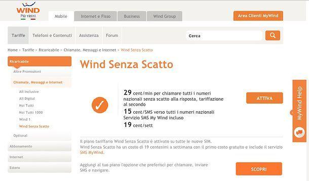 Offerte ricaricabili Wind