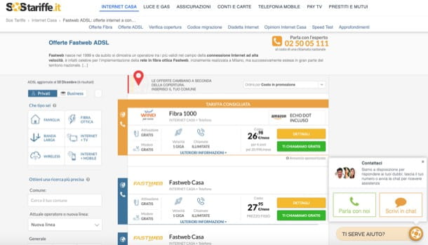 Confronto offerte Fastweb