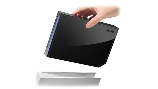 Foto di un Wii e la sua base